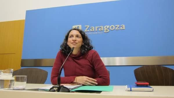 Concejal delegada de la Policía Local del Ayuntamiento de Zaragoza, Elena Giner
