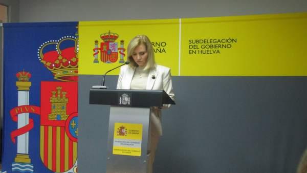 La subdelegada del Gobierno en Huelva, Manuela Parralo.