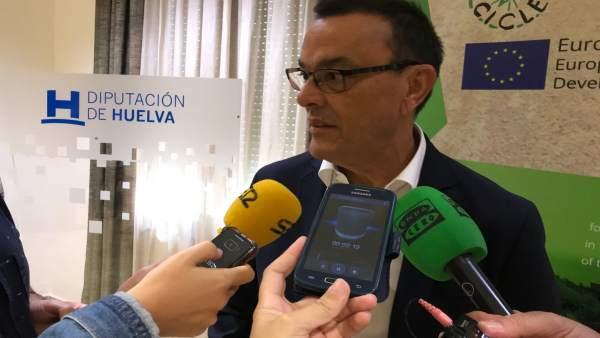 El presidente de la Diputación de Huelva, Ignacio Caraballo.