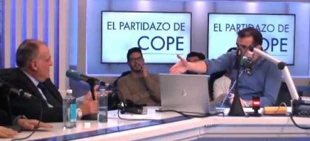 El enganchón entre Tebas y Juanma Castaño sobre las preguntas de la prensa