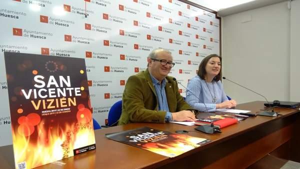 Presentación de los actos de San Vicente 2019 en Huesca