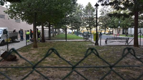 Parque canino de Plaza de la Hispanidad