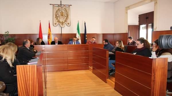 Pleno sobre los presupuestos en Ayuntamiento de La Palma.