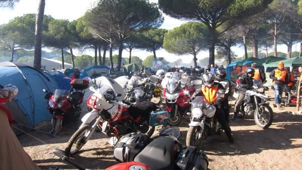 Concentración motorista Motauros, en Tordesillas (Valladolid)