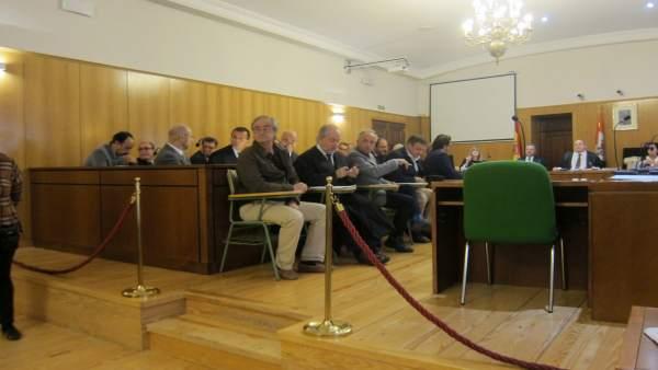 Foto archivo, del primer día en el que el juicio quedó suspendido.