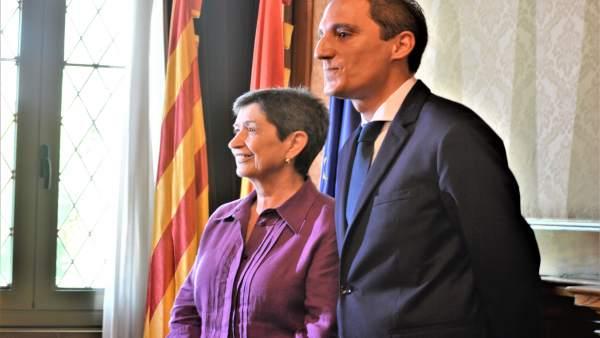 Teresa Cunillera y José Crespín (subdelegado en Lleida) (Archivo)