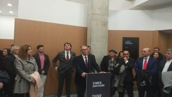 Soria.- El Ministro de Cultura inaugurando los cines