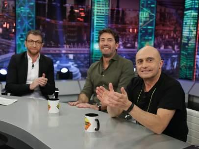 Antonio Garrido y Pepe Viyuela, en 'El hormiguero'.