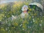 In the meadow. Claude Monet (1876)