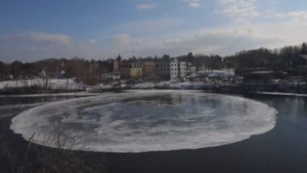 Un disco de hielo tiene intrigado a Estados Unidos