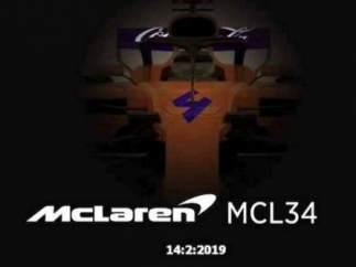 McClaren filtró por error el nuevo monoplaza de Carlos Sainz.
