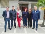 Visita del PSOE, con la alcaldesa accitana, Inmaculada Olea