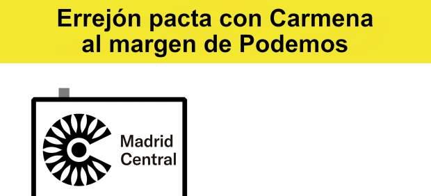 Errejón pacta con Carmena al margen de Podemos, viñeta de Malagón
