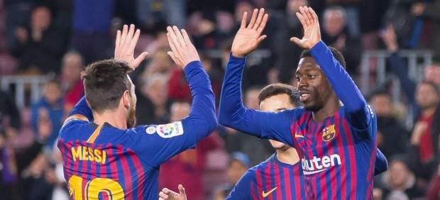 Messi y Dembélé, perfectamente alineados para remontar al Levante en Copa