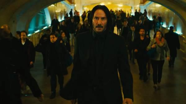 Huida imposible de Keanu Reeves en 'John Wick 3'