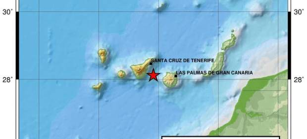 Gráfico donde se ve el terremoto de 4,2