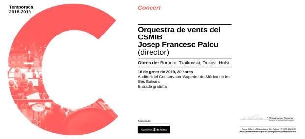 La Orquesta de Vientos del Conservatorio ofrecerá este viernes un concierto con obras de ...