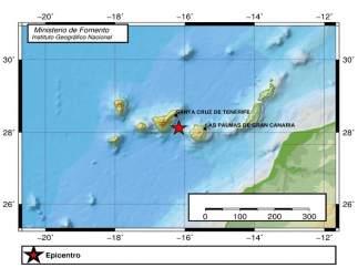 Gráfico donde se ve el terremoto de 4,2 sentido en Canarias este viernes