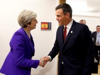Pedro Sánchez et Theresa May