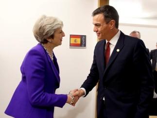 Pedro Sánchez and Theresa May