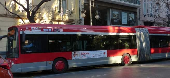 Autobús articulado híbrido de la EMT de València