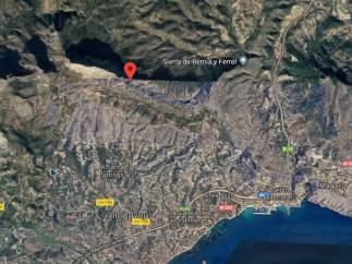 Localización de la Sierra de Bernia