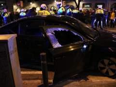 Huelga de taxistas Barcelona, VTC destrozado