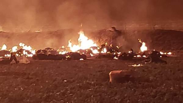 Explosión en un robo de gasolina