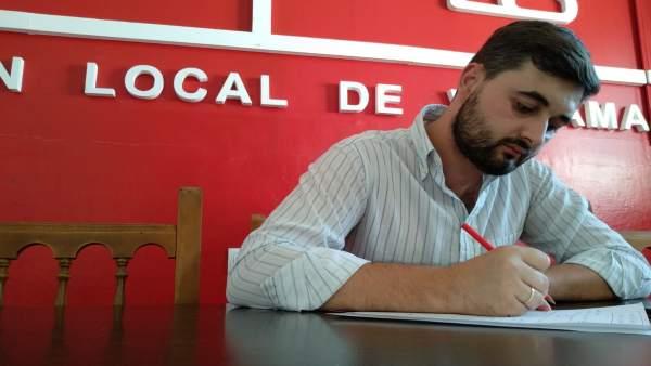 El portavoz del PSOE en el Ayuntamiento de Villamartín, Diego López