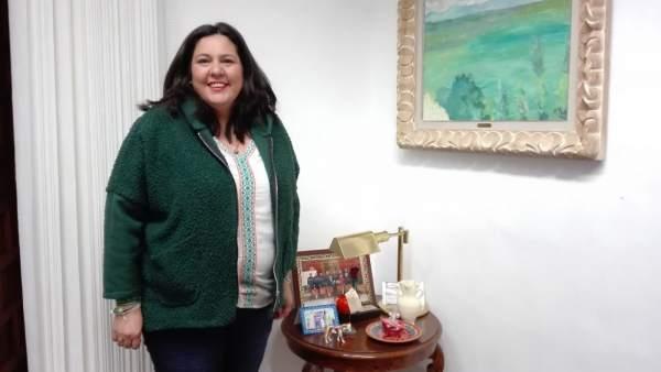 Dolores Amo, en su despacho de la Diputación