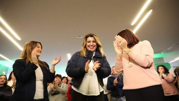 La secretaria general del PSOE-A interviene en un encuentro con mujeres