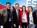 Pablo Casado con Luis Barcala, María José Català y Begoña Carrasco