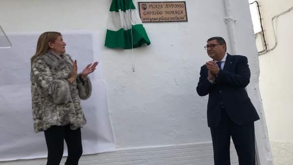 Inauguración de la plaza Antonio Garrido Moraga