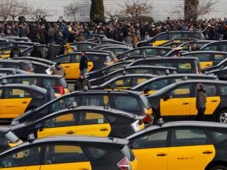 Protestas taxi Barcelona