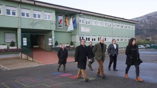 Martin inaugura el nuevo alumbrado de edificios municipales de San Felices