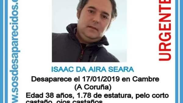 Cartel del desaparecido en Cambre
