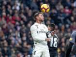 Sergio Ramos, durante el encuentro de LaLiga entre Real Madrid y Sevilla.