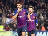 Luis Suárez y Leo Messi.