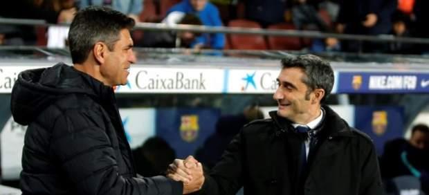 Mauricio Pellegrino y Ernesto Valverde.