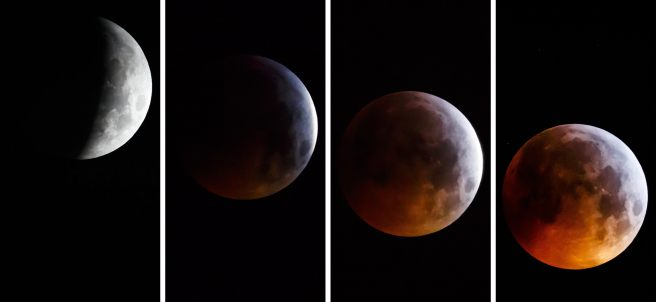 Fases de la 'superluna de sangre'