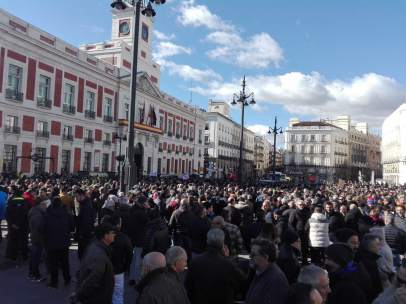 Manifestación de taxista en Sol