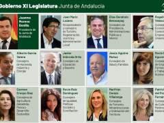 Nuevos consejeros de la Junta de Andalucía