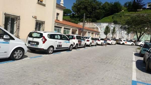 Huelga de taxis en Cantabria