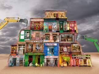 La artista hace un estudio antropológico de las ciudades en 'Paisajes del futuro' para criticar la pérdida de identidad de éstas.