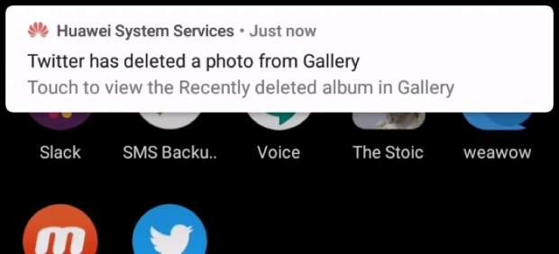 Huawei elimina imágenes de Twitter