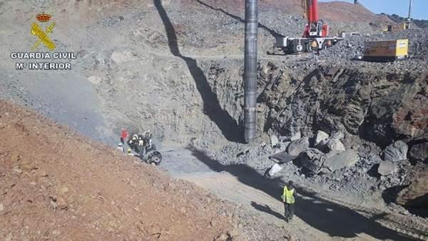 Vuelven a perforar el túnel paralelo al pozo de Totalán