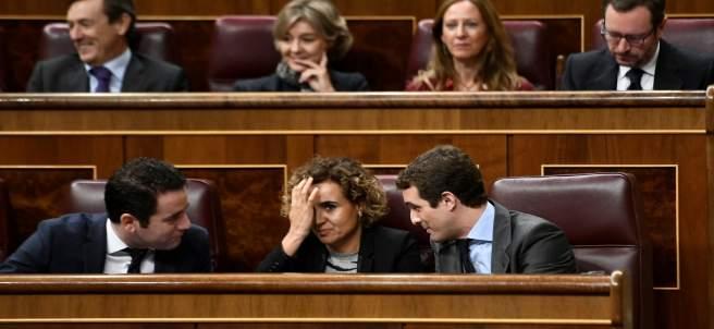 Teodoro García Egea, Dolors Montserrat y Pablo Casado