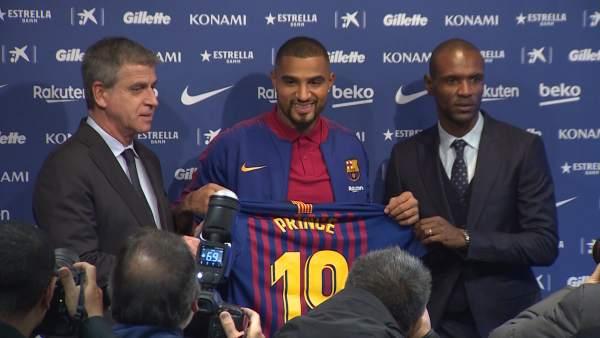 El FC Barcelona presenta a su nuevo fichaje Kevin-Prince Boateng