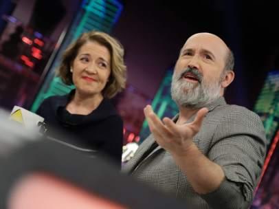 María Pujalte y Javier Cámara, en 'El hormiguero'.