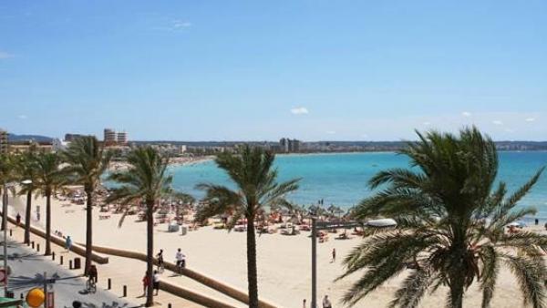 Imagen de una playa de Palma de Mallorca